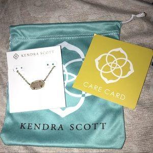 Kendra Scott Iridescent Drusy/Gold Elisa Necklace